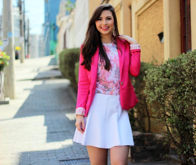 05 - saia branca rodada riachuelo e blazer rosa pink