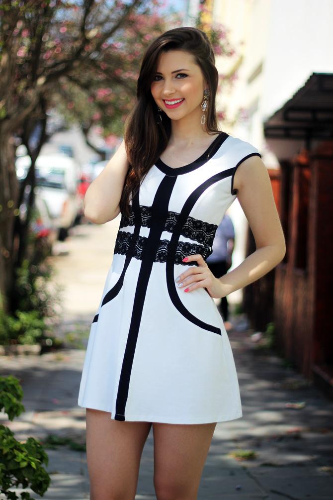 06 - vestido branco e preto pré requisito sempre glamour