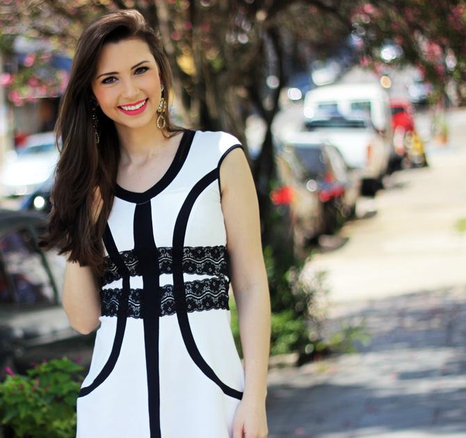 07 - vestido branco e preto pré requisito sempre glamour