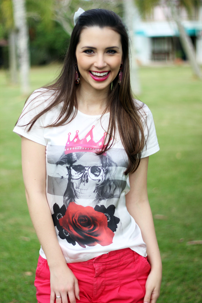 09 - look do dia shorts rosa e t-shirt