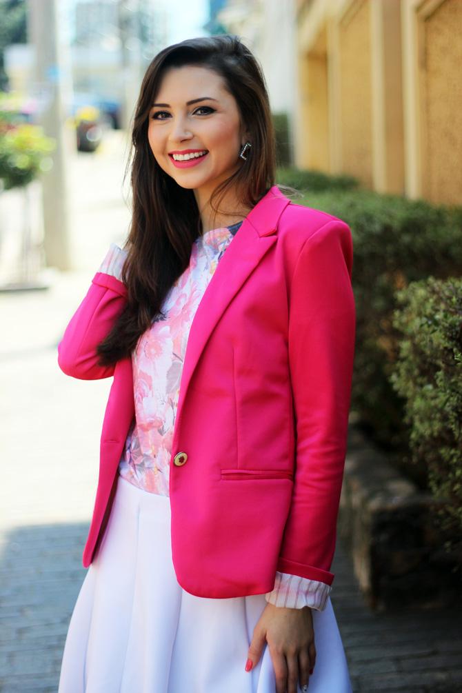 09- saia branca rodada riachuelo e blazer rosa pink