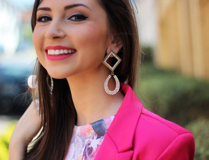 10 - saia branca rodada riachuelo e blazer rosa pink