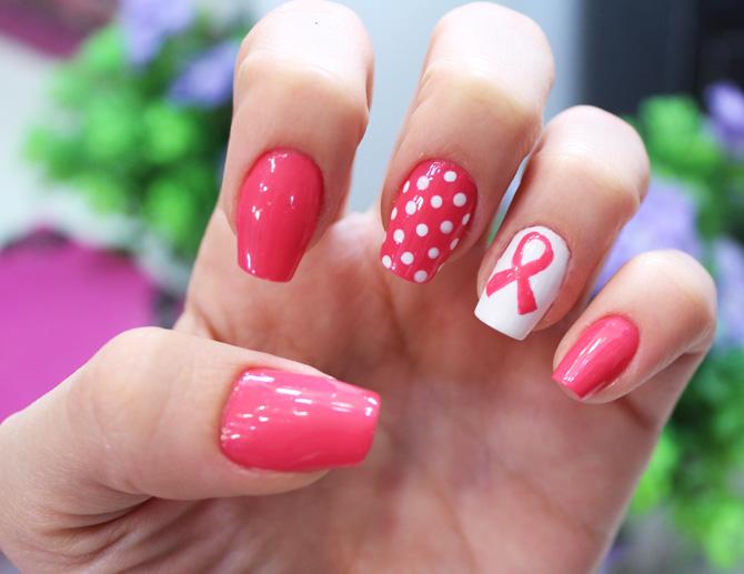 02 nail art unhas decoradas outubro rosa