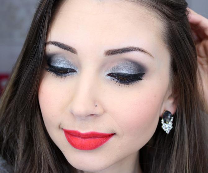 03 - maquiagem prata com batom vermelho