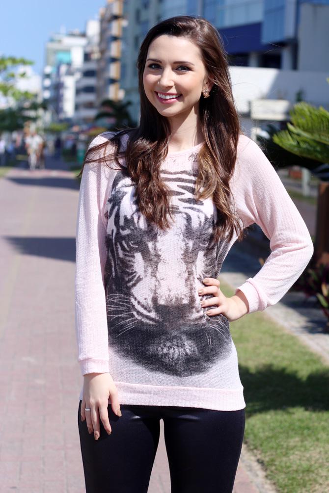 04 - look do dia blusa animal face sempre glamour
