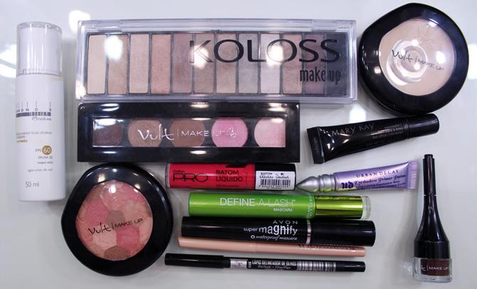 04 - maquiagem outubro rosa para usar de dia - produtos usados