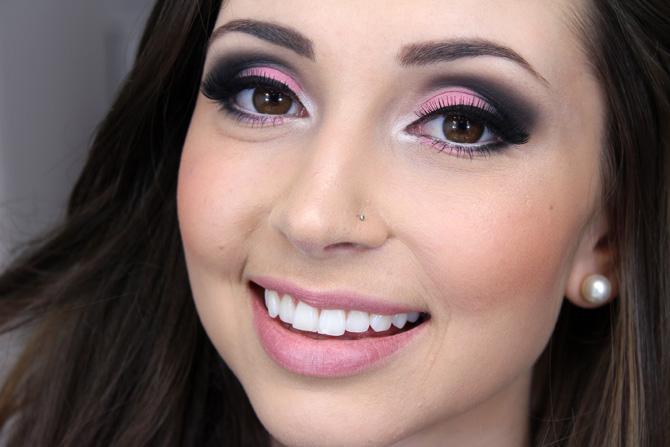 07 - maquiagem especial outubro rosa para noite