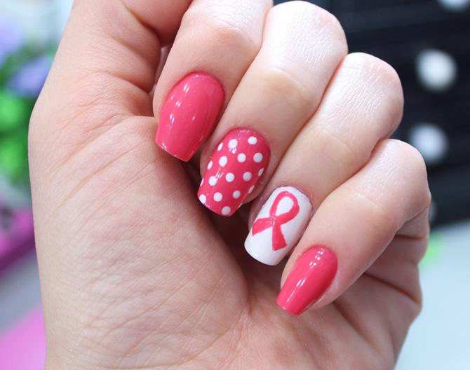 nail art unhas decoradas outubro rosa
