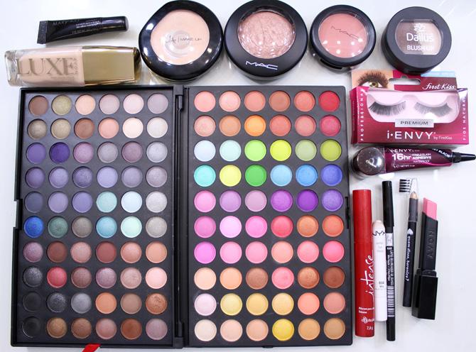 produtos usados maquiagem outubro rosa