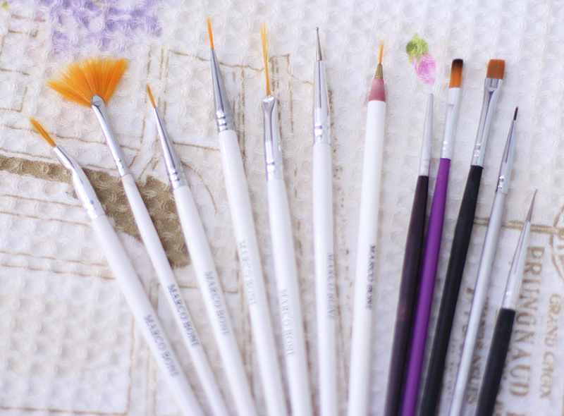 3-meus esmaltes e pinceis de unhas decoradas