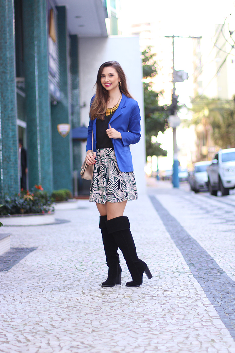 1-look do dia com blazer azul bic