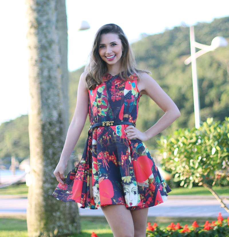 1-look do dia vestido fruto da imaginação