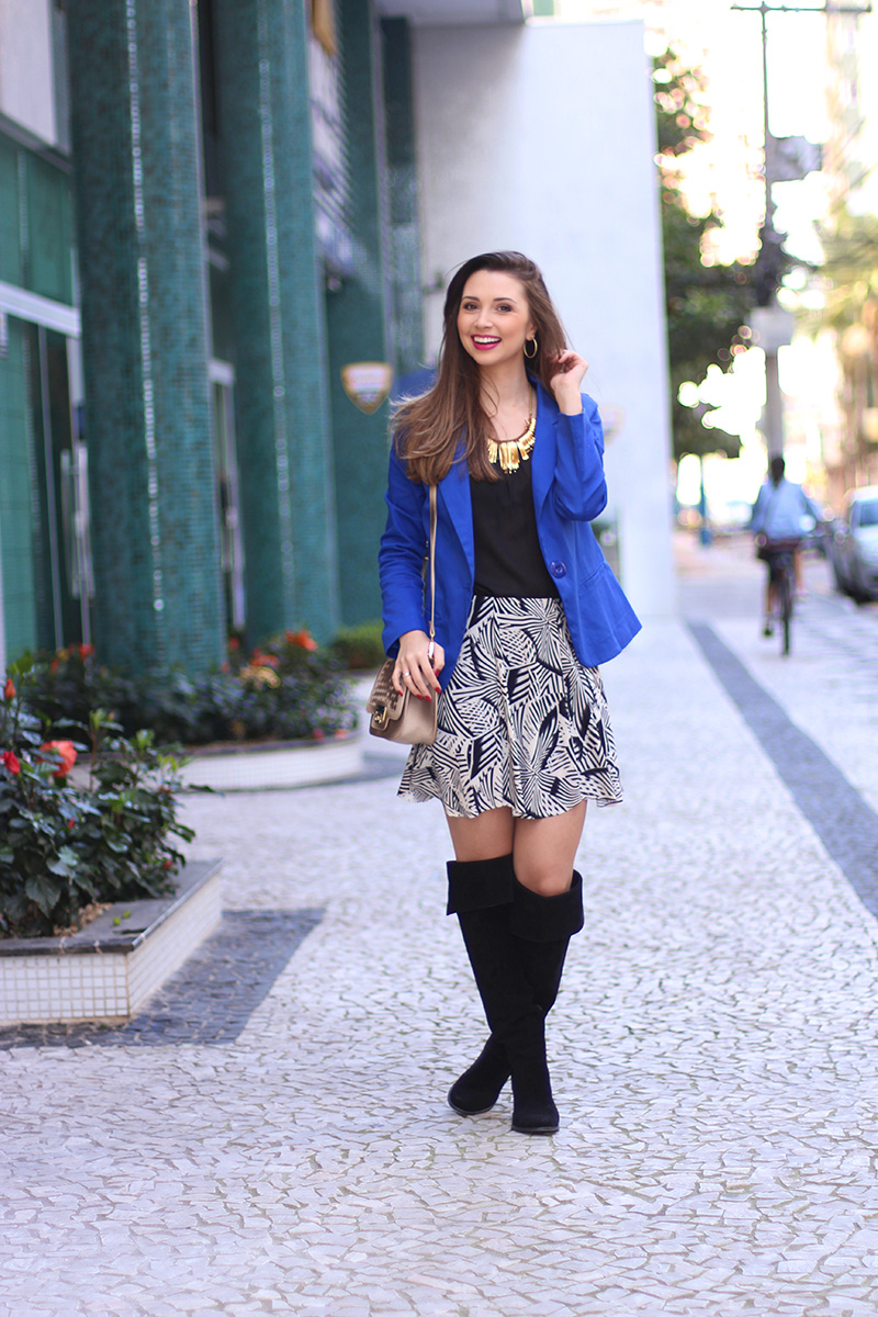2-look do dia com blazer azul bic