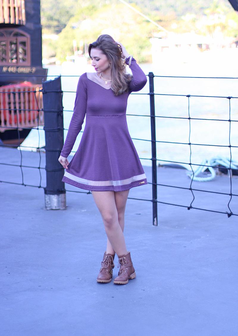 2-look vestido com coturno jana taffarel