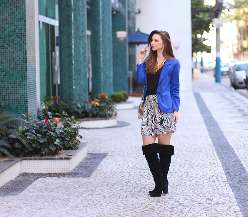 3-look do dia com blazer azul bic