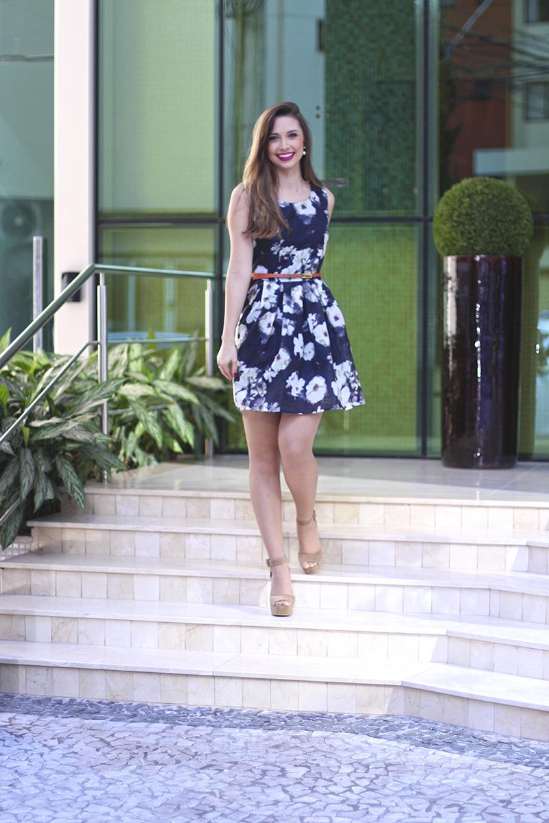 3-vestido florido sheinside
