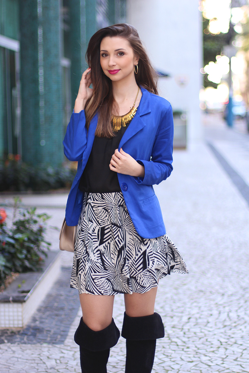 7-look do dia com blazer azul bic