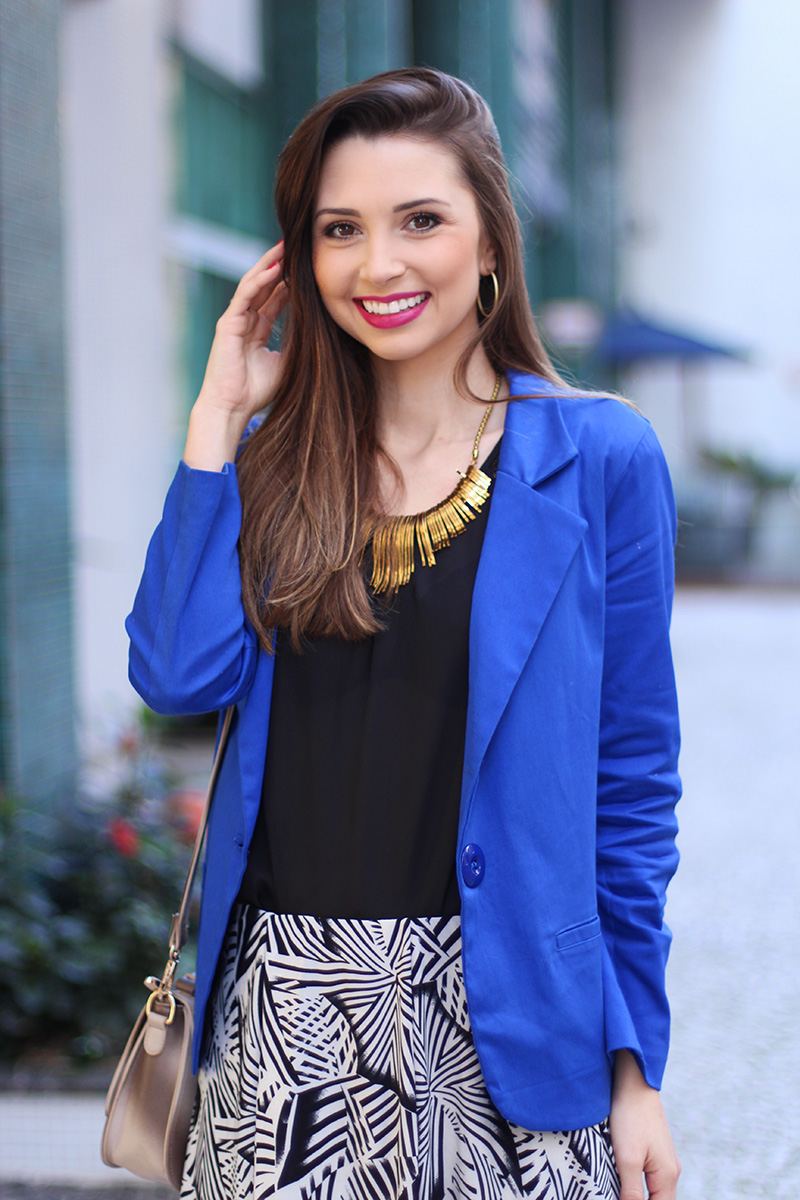 8-look do dia com blazer azul bic
