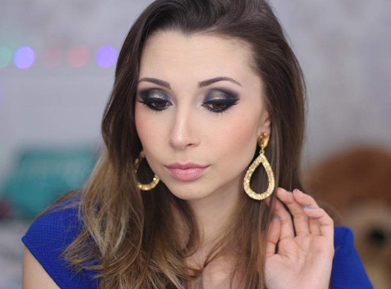 1-maquiagem azul marinho com dourado jana taffarel