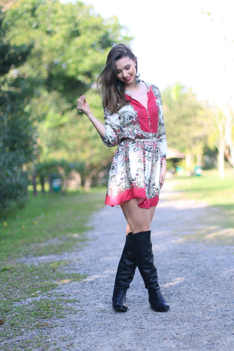 2-vestido estampado com rosa sly look jana taffarel