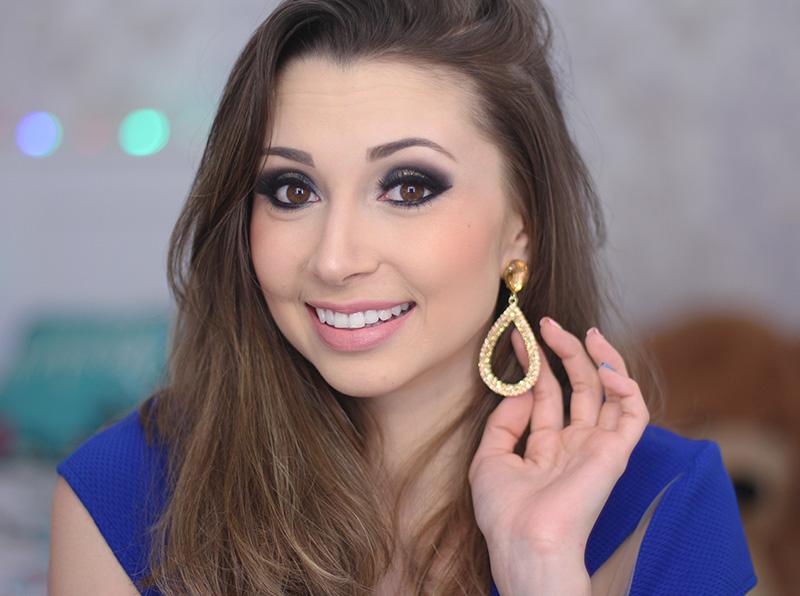 4-maquiagem azul marinho com dourado jana taffarel