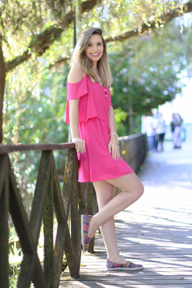 2-look do dia vestido rosa ciganinha pkd concept