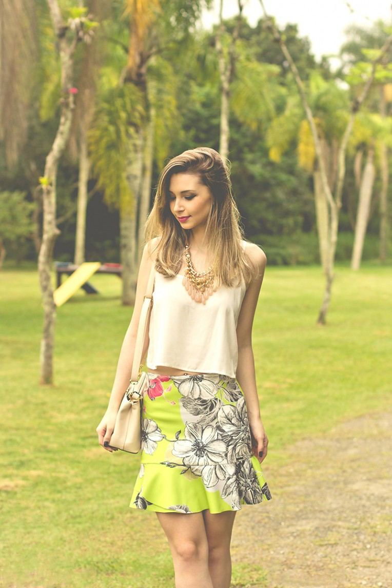 3-look do dia saia estampada colcci