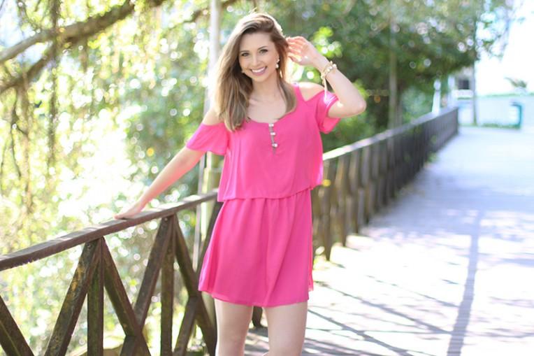 4-look do dia vestido rosa ciganinha pkd concept
