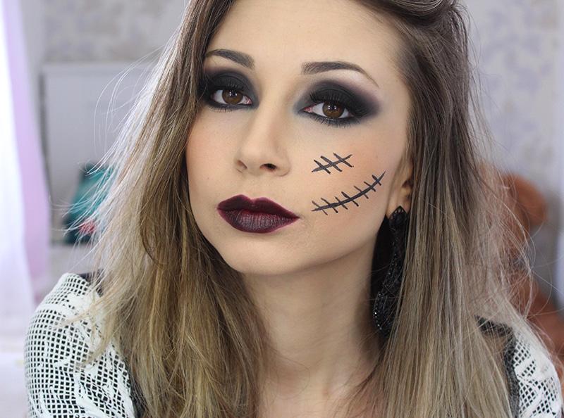 Suficiente 4-maquiagem para o halloween dia das bruxas — Sempre Glamour VF55