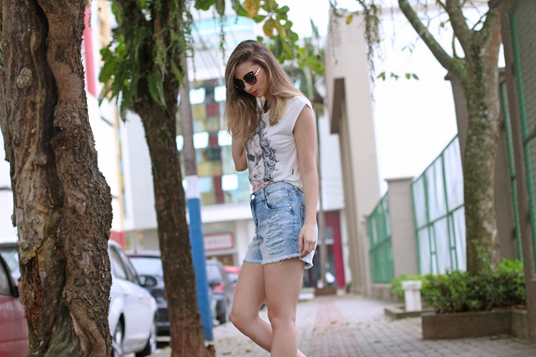 1-look do dia - shorts jeans