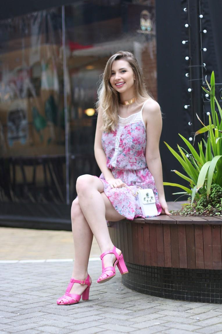 3-vestido estampado rosa para o verão