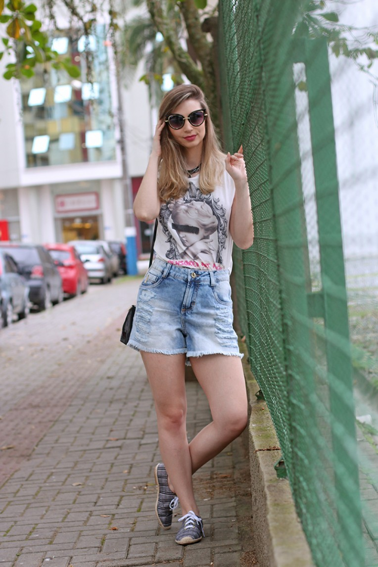 4-look do dia - shorts jeans