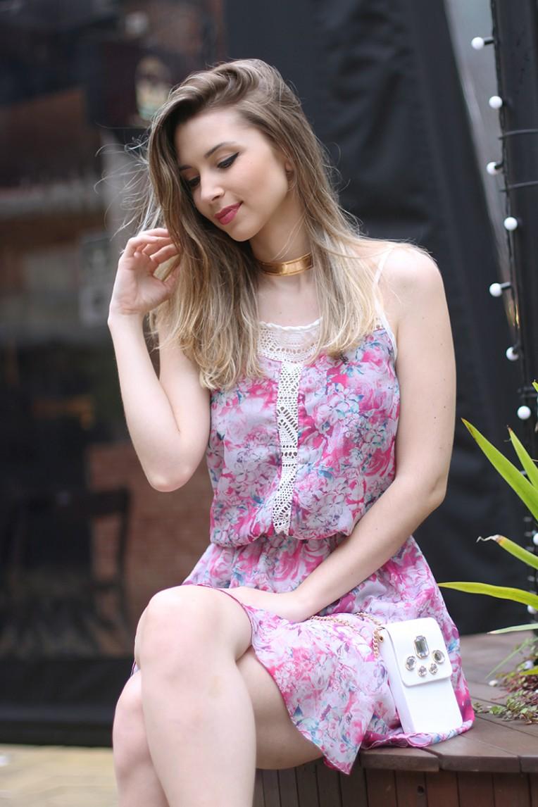 4-vestido estampado rosa para o verão
