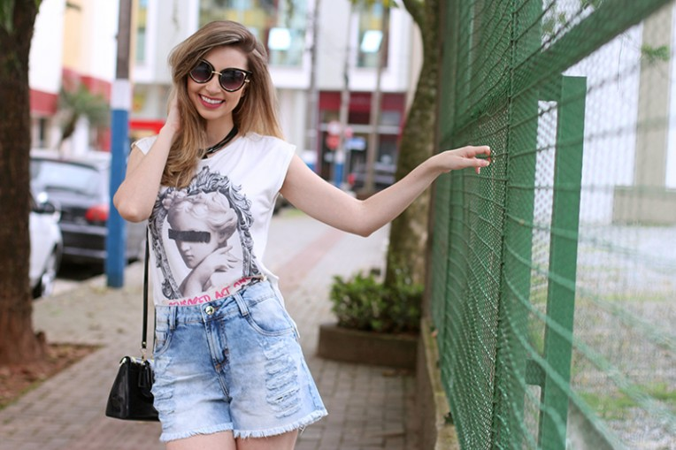 7-look do dia - shorts jeans