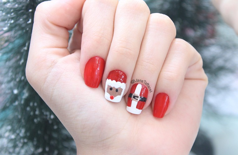 1-unhas decoradas para o natal