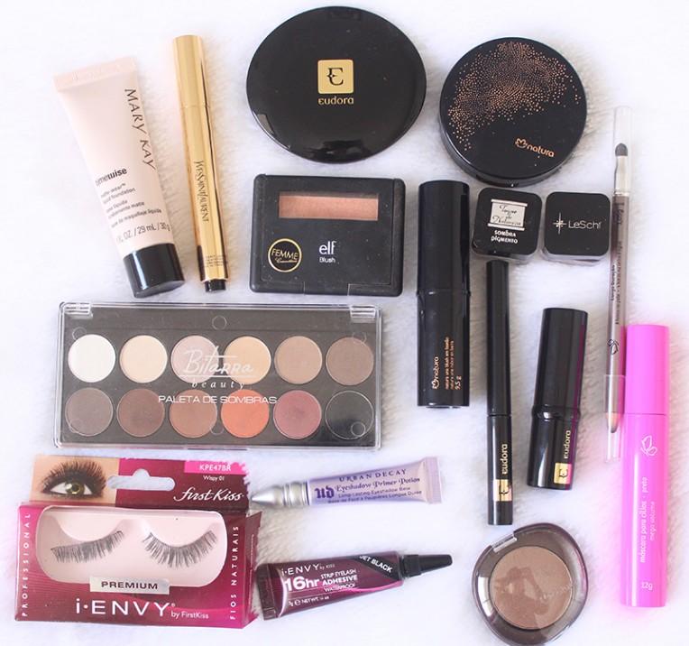 1-produtos usados maquiagem noite verão