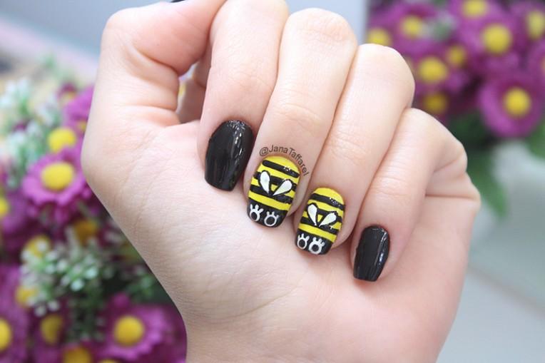 1-unhas decoradas de abelha