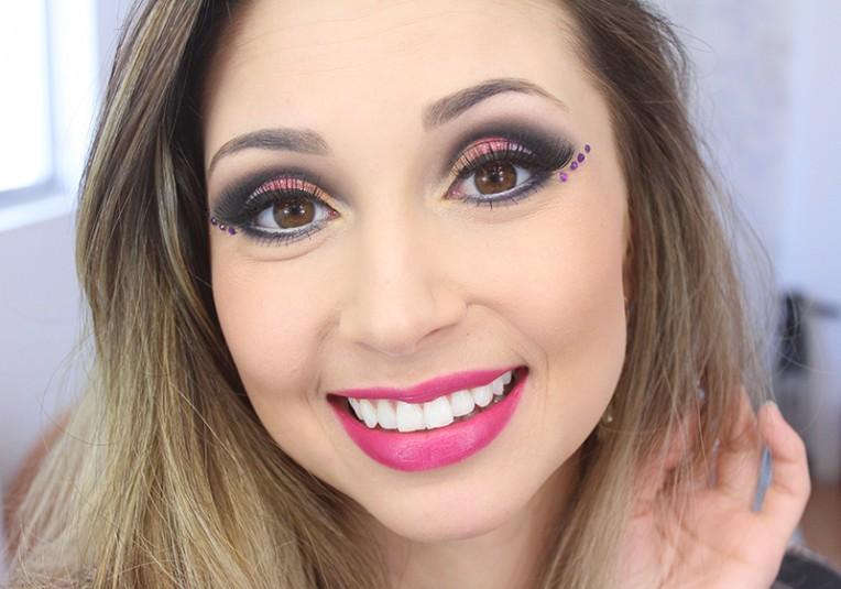 4-maquiagem colorida para o carnaval 2016