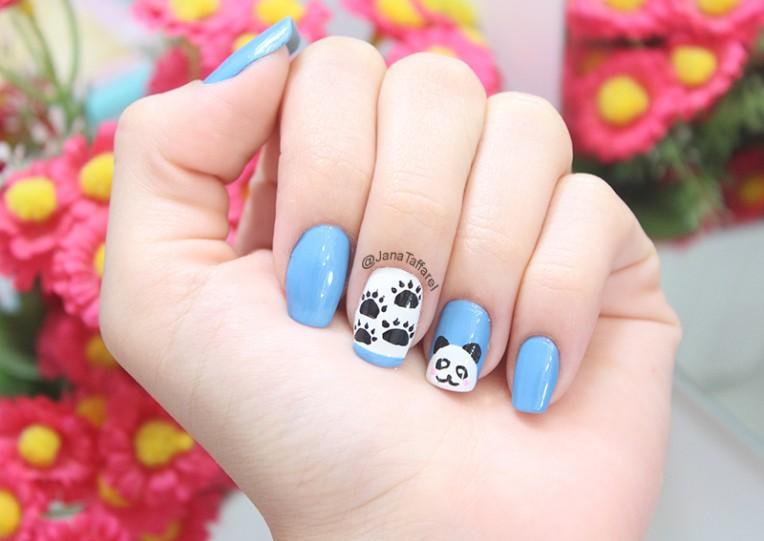 1-unhas decoradas de panda