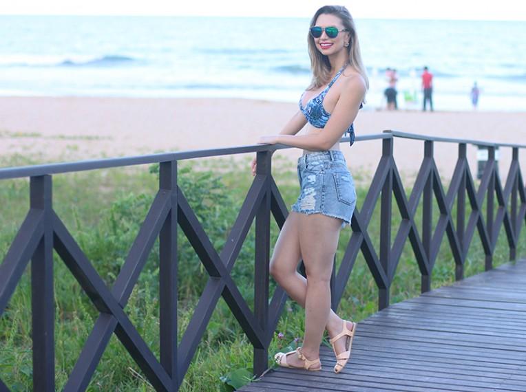 2-look de biquíni praia brava