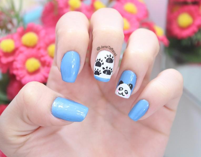 2-unhas decoradas de panda