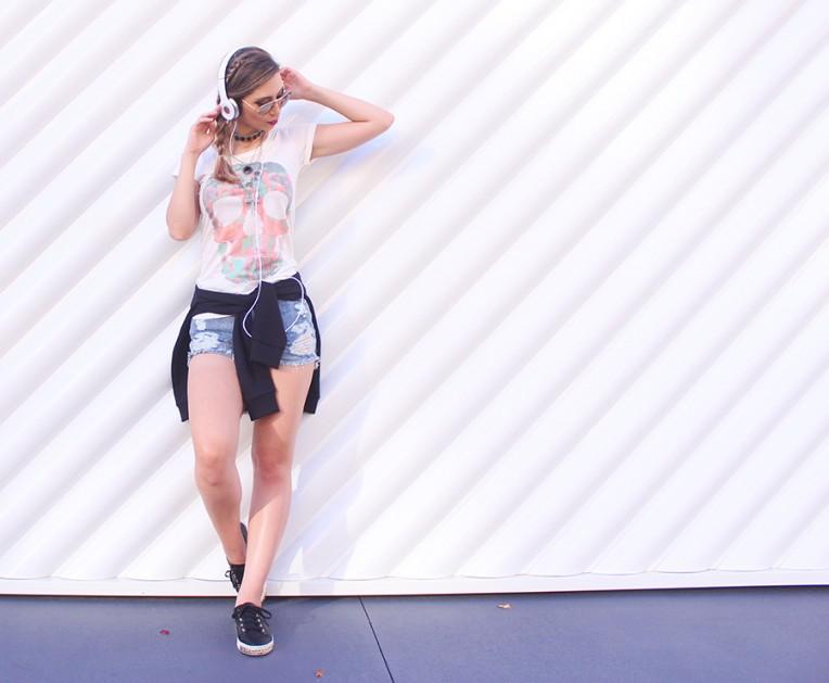 1-look outono com shorts