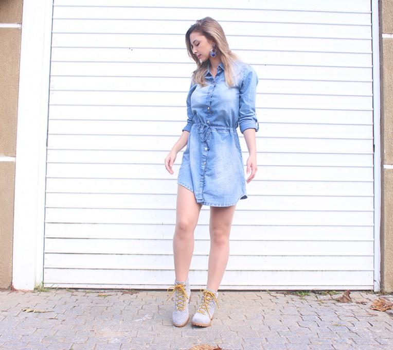 1-vestido jeans manga comprida