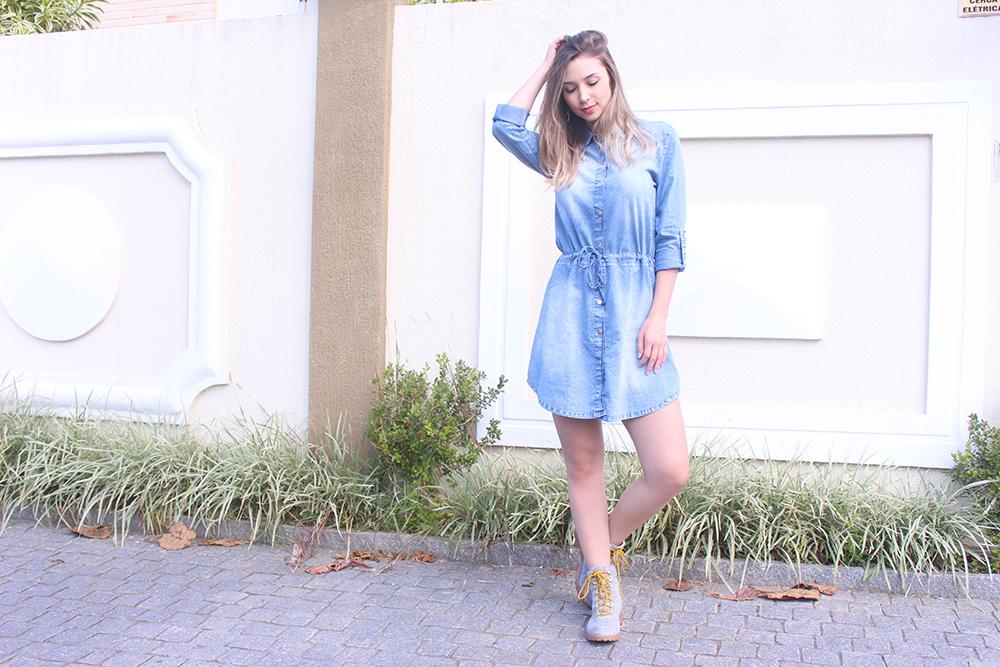 Vestidos jeans para usar com bota