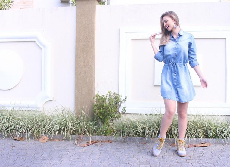 6-vestido jeans manga comprida