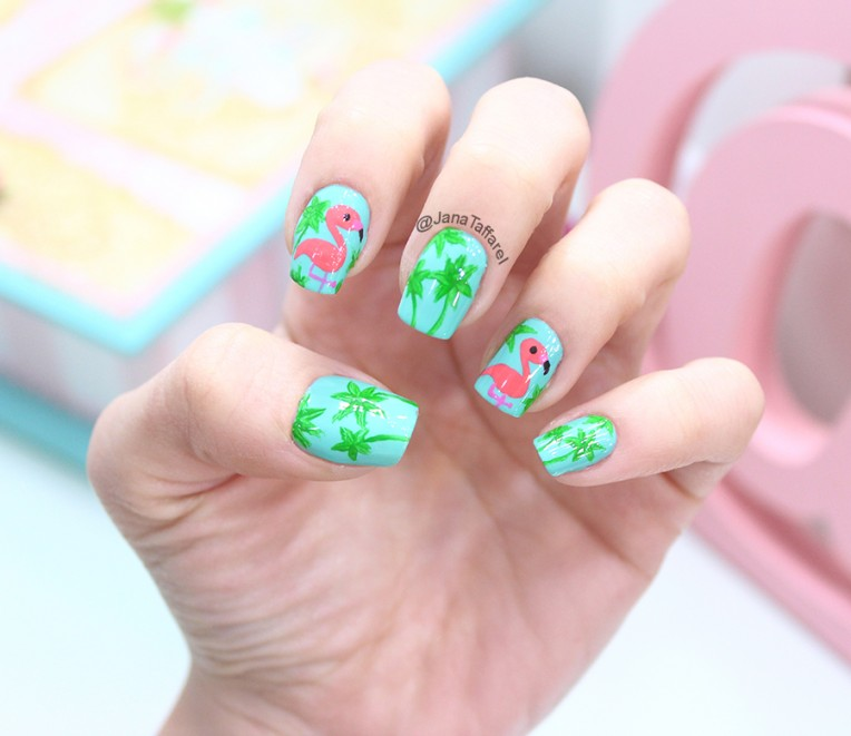 1.1-unhas decoradas de flamingo