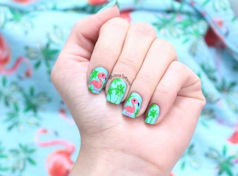 2.1-unhas decoradas de flamingo